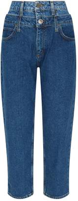 Sandro Double Waistband Boyfriend Jeans