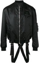Les Hommes strap detail bomber jacket - men - Cotton/Nylon/Polyamide/Spandex/Elastane - 48