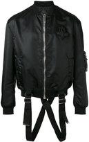 Les Hommes strap detail bomber jacket