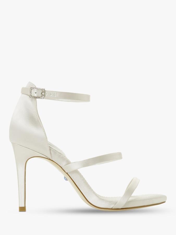 Dune Bridal Collection Memory Satin Stiletto Heel Sandals, Ivory
