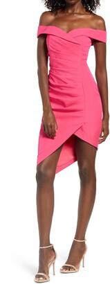 Lavish Alice Bardot Pleat Front Dress