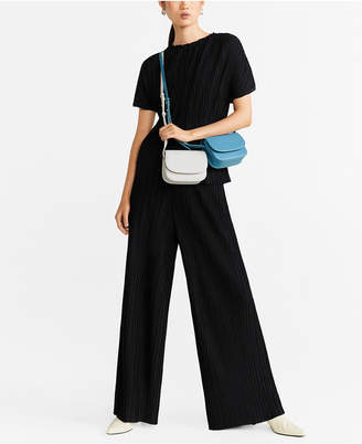 MANGO Pleated Flowy Trousers