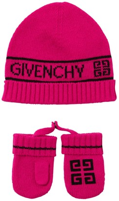 Givenchy Wool & Cashmere Blend Hat & Gloves