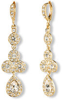 Givenchy 10Kt. Gold and Crystal Linear Pear Drop Earrings