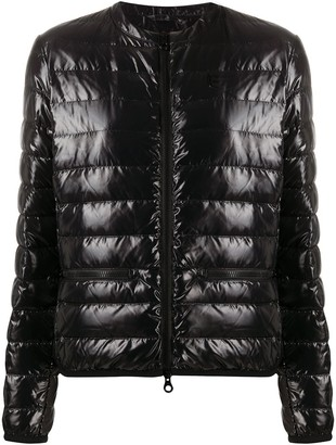 Duvetica Logo Patch Quilted Down Jacket