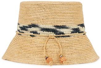 Sensi Lampshade toquilla straw bucket hat