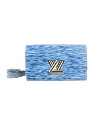 Louis Vuitton Epi Denim Twist Chain Wallet Blue