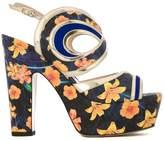 Nicholas Kirkwood 120mm 'Suzy' graffiti sandals