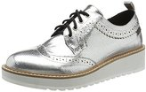 Pepe Jeans Women's Ramsy Lace-Up Flats Silver Size: 5