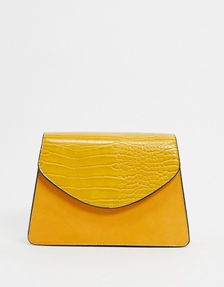 Truffle Collection Truffle structured cross body bag in ochre