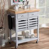 Asstd National Brand Baxton Studio Jaden Wood-Top Kitchen Cart