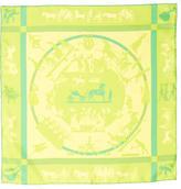 Hermes Jeux D'Ombres Silk Pocket Square