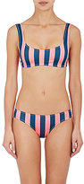 Solid & Striped Women's Elle Vertical Striped Microfiber Bikini Top