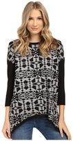 Kensie Soft Viscose Blend Aztec Sweater KS1K5857