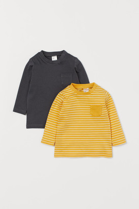 H&M 2-pack Jersey Tops - Gray