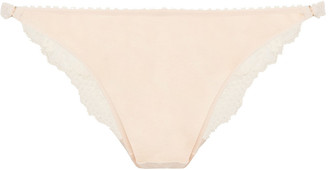 Heidi Klum Intimates Christina Day Stretch-lace And Jersey Low-rise Briefs