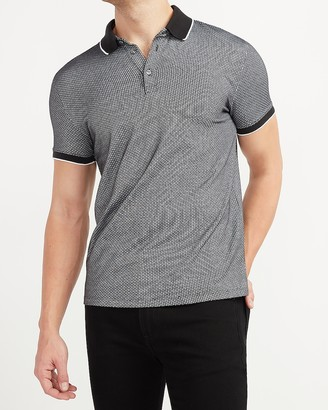 Express Printed Jacquard Tipped Polo
