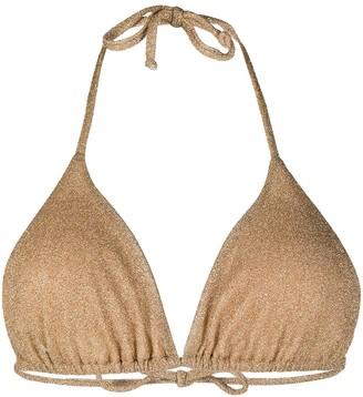 Moschino Metallic Triangle Bikini Top