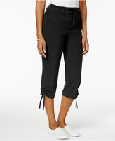 Style&Co. Style & Co Petite Ruched-Hem Capri Pants, Created for Macy's