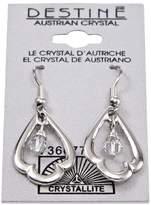 Crystallite Destine Trefoil Dangle Earrings