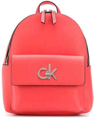 Calvin Klein Structured Logo Plaque Backpack