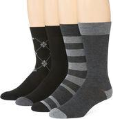 Van Heusen Mens 4-pk. Traveler Performance Dress Crew Socks