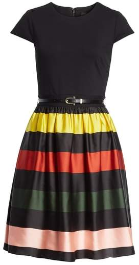 Ted Baker Cruise Stripe Fit & Flare Dress