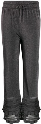 M Missoni Metallic Crochet Trim Trousers