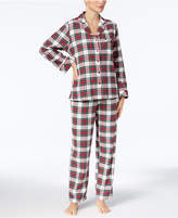 Charter Club Printed Cotton Flannel Pajama Set, Created for Macy's