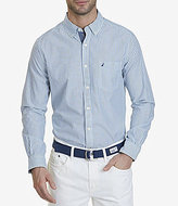 Nautica Long-Sleeve Vertical Stripe Classic Fit Shirt