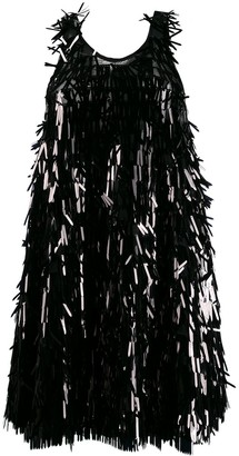 Norma Kamali sequin fringe dress