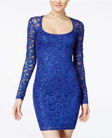Jump Juniors' Glitter Lace Bodycon Dress