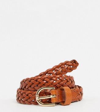 Accessorize woven belt in tan
