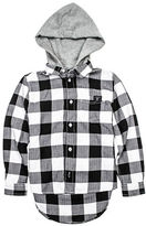 Guess Checkered Hooded Shirt