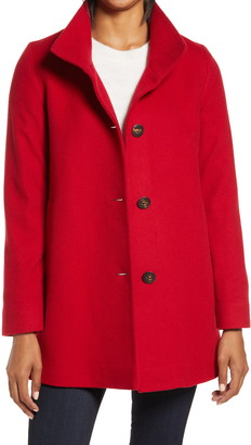 Fleurette Cashmere Stand Collar Car Coat
