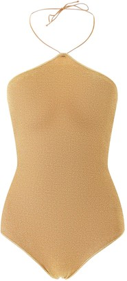 Oseree MAILLOT LUMIERE NECKLESS SWIMSUIT L Gold
