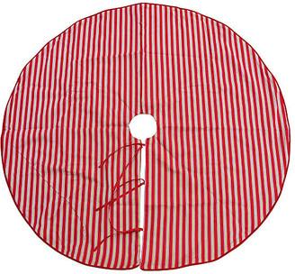 One Kings Lane Vintage Red & Green Striped Christmas Tree Skirt