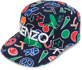 Kenzo printed logo cap - kids - Cotton - 52 cm