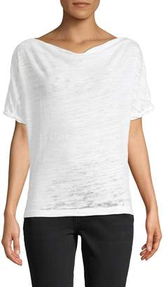Free People Burnout Casual Cowlneck Tee