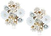 "Betsey Johnson I Dream of Betsey"" Flower Cluster Button Stud Clip-On Earrings"
