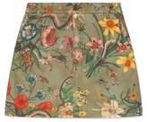 Gucci Flora Snake print mini skirt