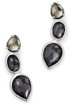 Ippolita Sterling Silver Rock Candy® Three Stone Doublet Earrings in Black Tie