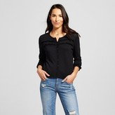 August Moon Women's Button-up Cardigan with Ruffle Yolk