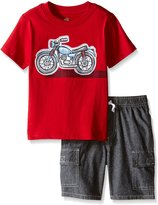 Kids Headquarters Little Boys' 2 Piece Set- Graphic Tee and Cargo Short