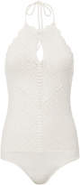 Exclusive for Intermix Sahara Crochet Bodysuit White S