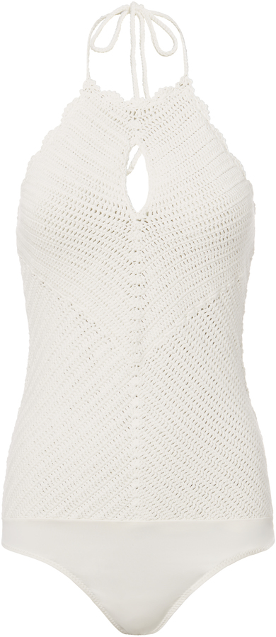Exclusive for Intermix Sahara Crochet Bodysuit