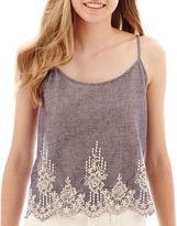 Trixxi SOCIETY GIRL Crochet-Hem Tank Top