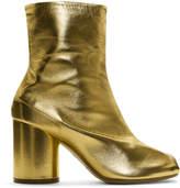 Maison Margiela Gold Tabi Boots