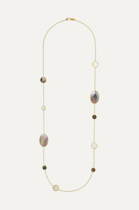 Ippolita Polished Rock Candy 18-karat Gold, Shell And Mother-of-pearl Necklace
