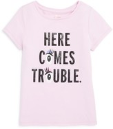 Kate Spade Girls' Here Comes Trouble Glitter Tee - Sizes 2-6